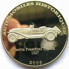 Congo 2003 Isotta Car 10 Francs Crown Coin,Proof