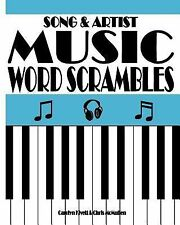 Song and Artist Music Word Scrambles : Unscramble the Letters to Form Popular...