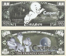Casper the Friendly Ghost Million Dollar Collectible Funny Money Novelty Note