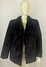 Vintage Brown NATURAL MINK Coat Fur Origin Finland size M Women's Jacket
