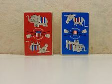 Mr. President U.S.A. 1960 Decor Note Co. Playing Cards Democrat Republican Lot/2