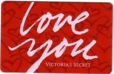 LOVE YOU VICTORIA'S SECRET COLLECTIBLE Gift Card New No Value *BILINGUAL*