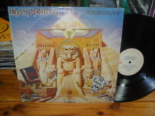 "IRON MAIDEN POWERSLAVE ARGENTINA EX VG EMI 12"" LP 1984 HEAVY METAL HARD ATTACK"