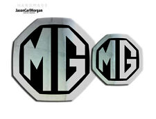 Mg ZS LE500 Mk2 Anteriore e Posteriore INSERTO Badge Logo Set 59MM / 95mm chrome / nero