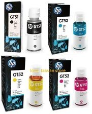 New Original HP GT51 GT52 4 Color Set Ink Bottle For HP DeskJet GT 5820 5810