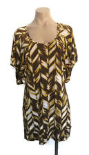 Cooper St Womens Ladies Girls Brown Yellow White Dress Smock Size 12