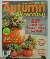 Country Samplers Autumn Decorating Clever Ideas for Fall 2016 FREE SHIPPING JB