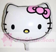 "(2), 18"" Hello Kitty Head Shape Balloon Party Supplies, USA Seller!! Set Of 2"