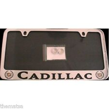 CADILLAC SOLID BRASS THIN TOP LICENSE PLATE FRAME MADE IN USA
