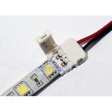 2 x Conector rápido de 10mm  2pin para tira unicolor con hasta 15cm tira (5050)