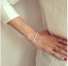 Girls Chic Gold Tone White Natural Small Pearl Bracelets
