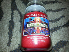 YANKEE CANDLE Large 22 oz Jar Candle HOME FOR THE HOLIDAYS Cinnamon Scented NEW