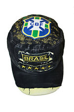 BRASIL BLACK CBF LOGO FIFA WORLD CUP ACID WASHED WEAR - LOOK MILITARY HAT CAP