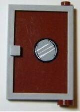 LEGO 4981 SpongeBob - Door 1 x 4 x 5 Right w/ Reddish Brown Glass w/ Porthole