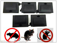 5x PROFESSIONAL KILLER BAIT STATION BOX TRAP poison Block Mouse Mice rodent