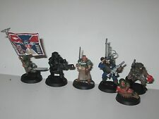 Warhammer 40K Imperial Guard metal OOP Cadian Command Squad x6