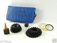 Cyclo Pans Freewheel kit remover, 16 cogs & spacers Vintage Bicycle 6 speed NOS