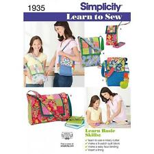 SIMPLICITY SEWING PATTERN LEARN TO SEW PATCHWORK QUILTING BAGS 1935
