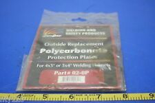 "Polycarbonate Welding Helmet Protection Plates FOR 4""x5"" or 5""x 4"" part no.02-OP"
