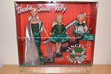 2000 playline collector musical chantant holiday barbie, stacie & kelly ensemble cadeau