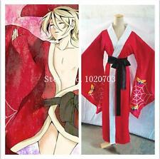 Black Butler Ciel Phantomhive Alois Trancy Red kimono Cosplay Costume F008