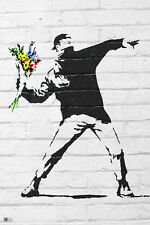 "Banksy POSTER ""Throwing Flowers, 61x91cm, Large"" BRAND NEW Licensed Art"