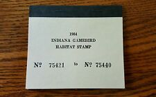 Vintage Indiana Duck Stamps Indiana Game bird Habitat Stamp 1984