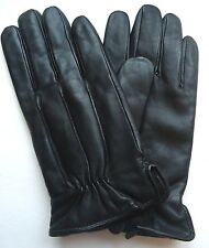 Men's Thinsulate Genuine Leather Drivers Gloves, M, Black