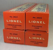 LIONEL POSTWAR REPRO PRESIDENTIAL PASSENGER CAR NON-PERF BOXES 2521, 22, 22, 23