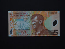 NEW ZEALAND SUPERB $5 POLYMER 1ST ISSUE HILLARY NOTE  * BEST UNC *