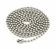 3Pcs Plated Stainless Steel 28 inch Ball Chain Necklaces 2.4mm Beads