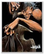 JAZZ ART PRINT Move Those Strings David Garibaldi