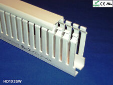 "1 Set-1""x3""x2m Thin Slot High Density White Wire Ducts/Cable Raceway and Covers"