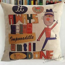 """A funny scientist Throw Pillow Case Back Cushion Cover Pillow Slip 18"""""""