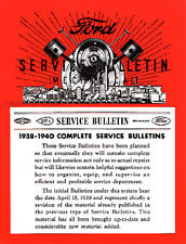 Ford Lincoln Mercury Service Bulletins 1938-1939-1940 Repair Shop Manual