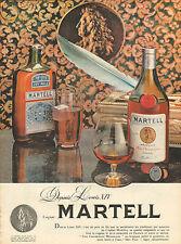 Publicité Advertising 1960  Cognac MARTELL