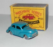 MOKO.Matchbox.Lesney.46 BLUE.MORRIS MINOR 1000.Grey plastic wheels.mint in box