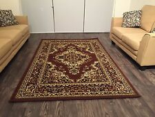 Beautiful Traditional Persian Style Area Rug 8x11 Brown Color Rugs Carpet