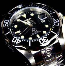 Mens Invicta Grand Diver Automatic NH35A Stainless Steel 47mm Black Watch New