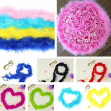"2m/29""  Rose Feather Boa Fluffy Craft Costume Wedding Dressup Flower Decoration"