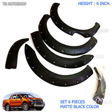 6Inch Fender Flares Wheel Arch Off-Road Ford Ranger 4dr T6 Px Wildtrak 2012 2015