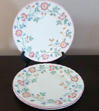 Churchill Fine English Tableware Briar Rose Dinner Plates x3 Pink/Purple Flower
