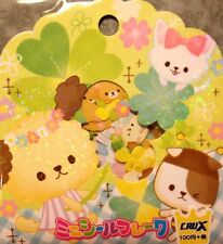 Kawaii CruX Clover Wanko Sticker Flakes Sack 42 Stickers