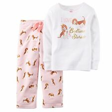 NWT Carter's 2pc I Love Bedtime Stories Puppy Pajamas sz 2t