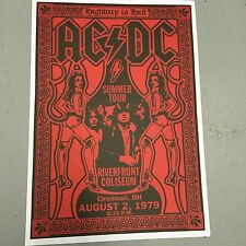 AC/DC - CONCERT POSTER RIVERFRONT COLISEUM OH 2nd AUGUST 1979 (A3 SIZE)