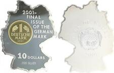 Nauru 10 Dollar 2001, final issue of the german mark, 21,5g Silber 999, Gold