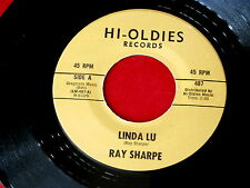 RAY SHARPE~LINDA LU~RARE~HI OLIDES 487~MINT COPY~DOO WOP~ ROCKABILLY 45