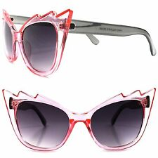 Unique Vintage Inspired Sexy Womens Celebrity Designer Pink Cat Eye Sunglasses