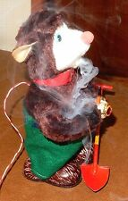 Vintage 1950's Battery Operated Smokey The Bear - Japan Antique Toy Working