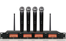 Professional UHF 4 Channel Wireless Microphone System
